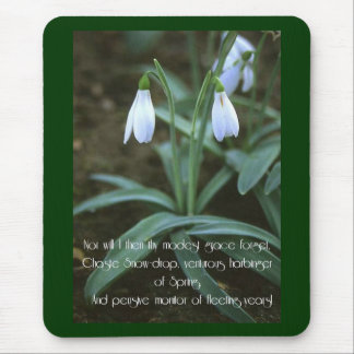 Chaste Snowdrop Mouse Pad