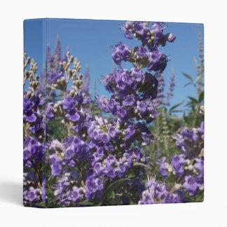 Chaste Tree Purple Flowers 3 Ring Binder