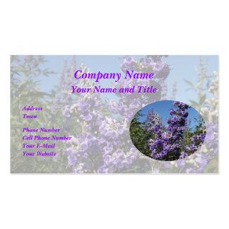 Chaste Tree Purple Flowers Business Card