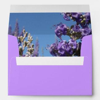 Chaste Tree Purple Flowers Envelopes