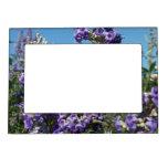 Chaste Tree Purple Flowers Frame Magnet