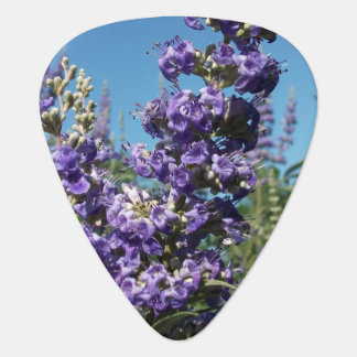 Chaste Tree Purple Flowers Guitar Pick