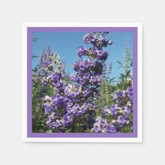 Chaste Tree Purple Flowers Napkin