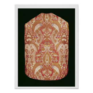 Chasuble, lace patterned silk, French, c.1720 Poster
