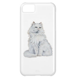 Chat Blanc iPhone 5C Cover