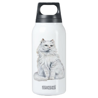 Chat Blanc Insulated Water Bottle