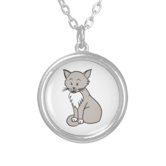 Chat gris custom necklace