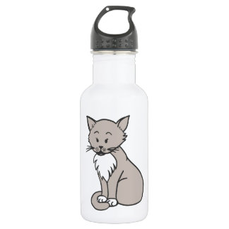 Chat gris stainless steel water bottle