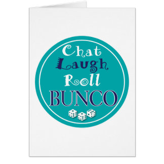 chat,laugh,roll - bunco card