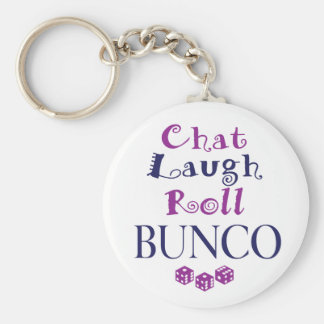 chat,laugh,roll - bunco keychain