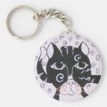Chat  Noir Basic Round Button Keychain