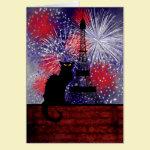 Chat Noir Bastille Day Card
