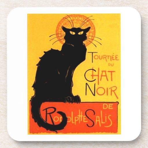 Chat Noir...Black Cat Cork Coaster
