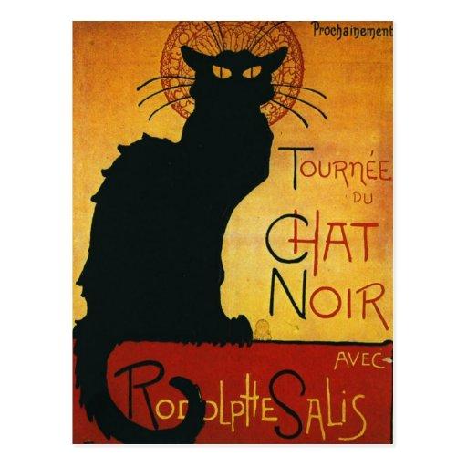 Chat Noir - Black Cat Post Card