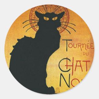Chat Noir - Black Cat Classic Round Sticker