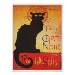 Chat Noir by Steinlen Vintage French cabaret cat Poster