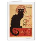 Chat Noir Cabaret Troupe Black Cat Promo Poster Card