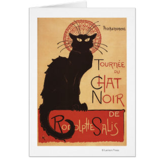 Chat Noir Cabaret Troupe Black Cat Promo Poster Card
