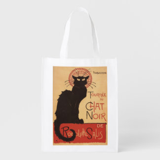 Chat Noir Cabaret Troupe Black Cat Promo Poster Grocery Bags