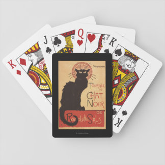 Chat Noir Cabaret Troupe Black Cat Promo Poster Playing Cards