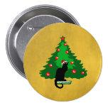 Chat Noir Christmas Button