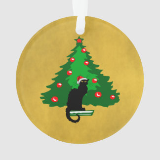 Chat Noir Christmas Ornament