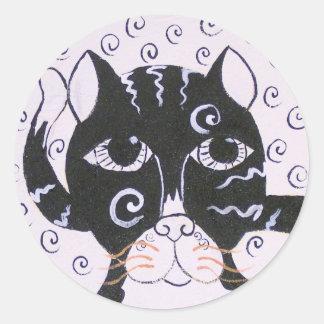 Chat  Noir Classic Round Sticker