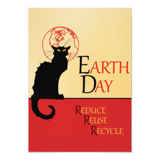 Chat Noir Earth Day Card