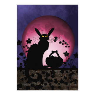 Chat Noir Easter Card