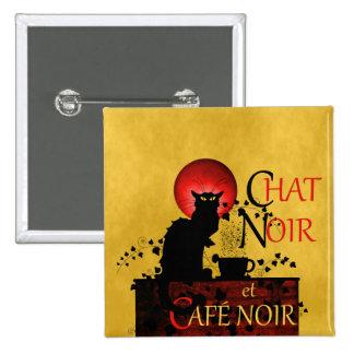 Chat Noir et Café Noir Button