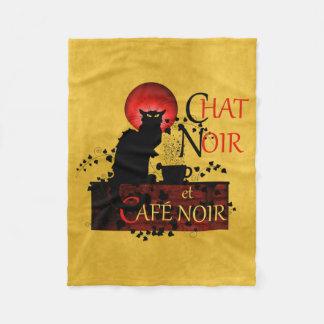 Chat Noir et Café Noir Fleece Blanket