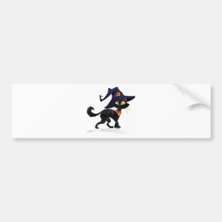 Chat noir Halloween Bumper Sticker