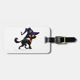 Chat noir Halloween Luggage Tag