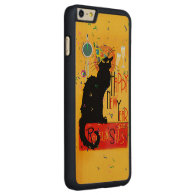 Chat Noir Happy New Year Carved® Maple iPhone 6 Plus Slim Case