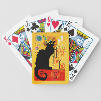Chat Noir Happy New Year Bicycle Playing Cards