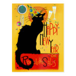 Chat Noir Happy New Year Post Card