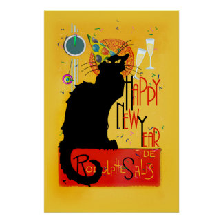 Chat Noir Happy New Year Poster