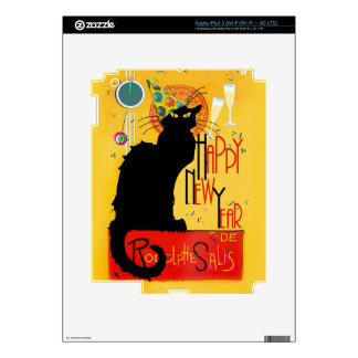 Chat Noir Happy New Year iPad 3 Decal