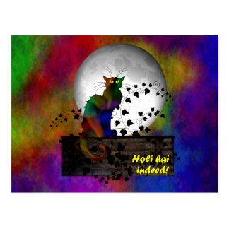 Chat Noir Holi Hai Postcard