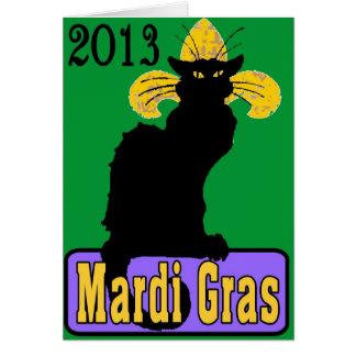 Chat Noir Mardi Gras 2013 Card