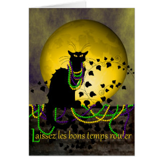 Chat Noir Mardi Gras Card
