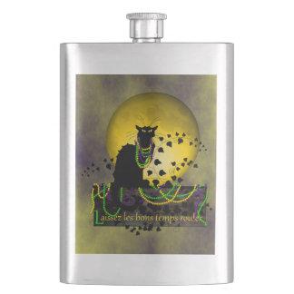 Chat Noir Mardi Gras Flask