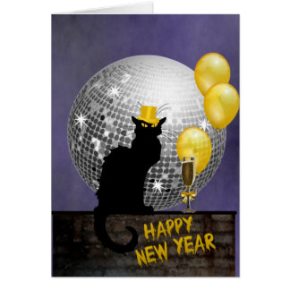 Chat Noir New Year Eve Card