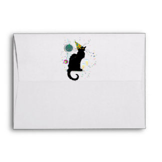 Chat Noir New Years Envelope