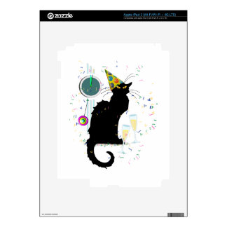 Chat Noir New Years Skin For iPad 3