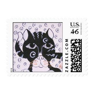 Chat Noir Postage Stamp