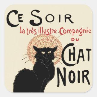Chat Noir Square Sticker