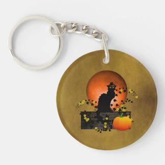 Chat Noir Thanksgiving Keychain