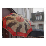 Chat Noir Umbrella Montmartre Greeting Cards