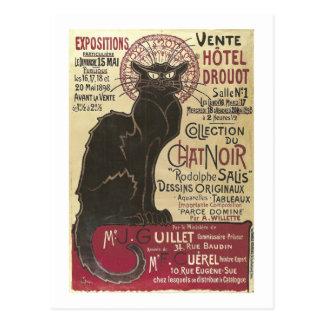 Chat Noir Vente Hôtel Drouot Steinlen Fine Art Postcard